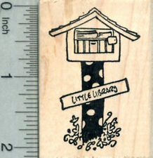 Little Library Rubber Stamp, Polka Dots H30627 WM