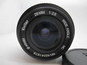 Vivitar for Nikon 28mm F/2.8 Prime Wide Angle MF Nikon AI S Lens