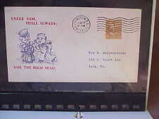 WW II Patriotic Cover  6/17/42 Uncle Sam, Shall Always: Sail the High Seas!