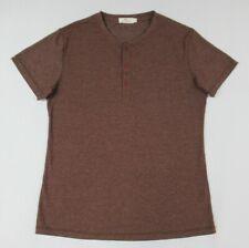 Nwot Mr. Zhang HERREN Sammlung 3 Knopfkragen - Mittelbraun T-Shirt C796