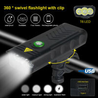 Brightness 3x XML T6 LED USB Cycling Lamp Bicycle Bike Headlight 4-Mode Headlamp