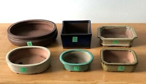 Lot of 6 Bonsai Pot used very good condition