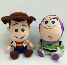 "2Pcs Disney Pixar Movie Toy Story 4 Buzz Lightyear Soft Plush Toy Figure Doll 7"""