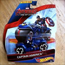 Hot Wheels MARVEL Avengers CAPTAIN AMERICA Diecast Motorbike AGE OF ULTRON MOTOS