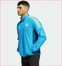 new Adidas men running jacket Parley 2019 Boston marathon DX1851 blue 2XL