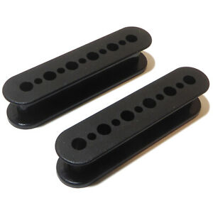 Guitar pickup bobbin bridge or neck fitting, Strong ABS black plastic 15mm high