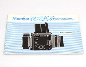 Mamiya RZ67 Professional Bedienungsanleitung in dänischer Sprache Bruksanvisning