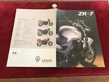 brochure de moto N 34 kawasaki zr 7