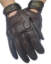 DAINESE BLACKJACK MOTO Guanti in pelle marrone scuro vintage estate Guanti