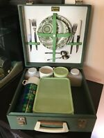 Vintage cased Brexton picnic hamper 2 people