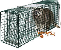 "24"" Humane Animal Trap Steel Cage for Small Live Rodent Control Rat Squirrel"