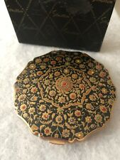 Stratton Powder Compact 1970s Vintage Original Box Princess Enamel Puff Sifter