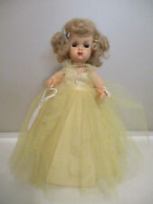 Doll Terri Lee Tiny Terri in Yellow  Long Formal  No  Panties Tagged 1950s