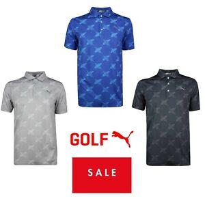 Puma Golf Mens Alterknit Palms Polo Shirt 45% OFF RRP New