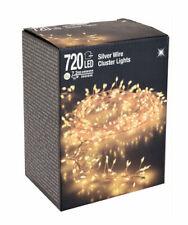 Micro Cluster Lichterkette 720 LED warmweiß - 720 cm - Büschel Leuchtdraht Außen
