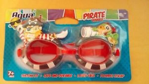 Aqua Splash Red Pirate/Parrot Goggle Latex Free age 7++