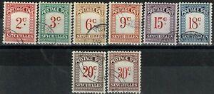 Seychelles Used Postage Due Set