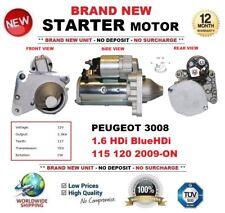 FOR PEUGEOT 3008 1.6 HDi BlueHDi 115 120 2009-ON NEW STARTER MOTOR 1.5kW 11Teeth