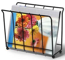 Black Steel Magazine Holder Rack Bathroom Storage Metal Organizer Stand Decor