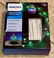 Philips Battery Operated Dewdrop Lights Indoor/Outdoor #051042765 - Green