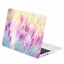 "Lavender Graphic Rubberized Hard Case for Macbook Pro 13"" w/Retina A1425/A1502"