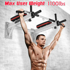 Pull Up Bar Wall Mounted Dip Chin Workout Gym Station Stand Sit Push Heavy OT066