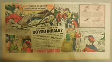"Phillip Morris Cigarette Ad: ""Skiing Accident"" 1930's - 1950's 7.5 x 15 inches"