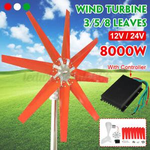 8000W 8 Klinge Windkraftanlage Windgenerator Turbine Wechselrichter 12V/24V