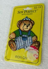 """New listing New """"Sew Perfect"""" Super Cute Boy BearIron On Applique Approx' 2 5/8"""" X 2 1/4"""""""