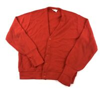 THANE Vintage 70s 80s Red V Neck Sweater Size Men's Large Orlon Acrylic Made USA