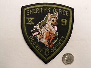 OCONEE SC SOUTH CAROLINA PD POLICE K9 SHERIFF subdued patch