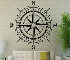 Nautical Compass Wall Decal Vinyl Sticker Navigation Interior Art Decor (3coo2)