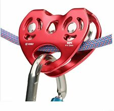 Pulley System for Climbing Rigging Hauling Caving Zip Line Cable Trolley Outdoor