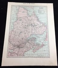 Vintage 1919 Map of Quebec Canada