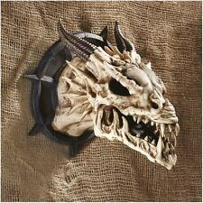 Horned Dragon Skull Wall Trophy Indoor Home Decor Medieval Gothic Mythological
