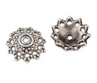 30 Perlenkappen Perlkappen 12mm Tibet Silber Spacer Schmuck Zwischenperlen M230