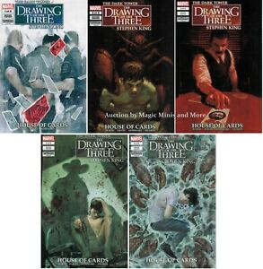 Dark Tower - Drawing of the Three HOUSE CARDS (5) issue comic SET #1 2 3 4 5 1st