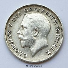 More details for 1917 king george v silver .925 sixpence coin. high grade with nice detail.