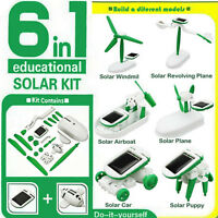 6 in 1 Creative DIY Educational Learning Power Solar Robot Kit Children Toy