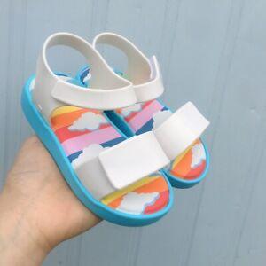 MINI MELISSA Jelly Rainbow Slip-toe Roman Sandals Toddler Girls/Boys Shoes 7-11