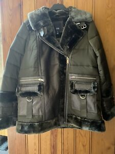 River Island Aviator Jacket Size 8 Brand New With Tags