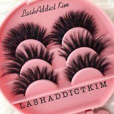 4f5541c1dda Mink Lashes Eyelashes 3D Gift Set Makeup 3 Pairs Fur + Eyelash Case | US  SELLER