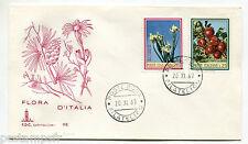 ITALIE - 1967, FDC 1° Jour FRUITS et FLEURS, IRIS et POMMES, 20.11.67