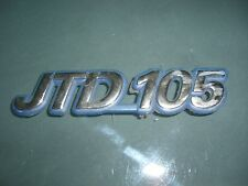 Emblem badge fiat marea JTD 105 plástico, aprox. 13 x 3 CM, 46551754