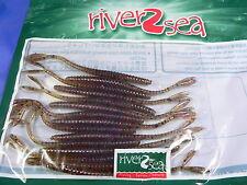 1 busta artificiali River2sea V-Tail 90 mm spinning trota, black bass, persico