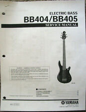 Yamaha BB404 BB405 4 & 5 String Bass Guitar Service Manual, Parts List Booklet