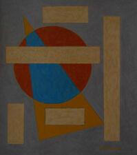 Emil Bisttram 1939 Transcendental Geometric Abstraction  Taos Santa Fe Modernist