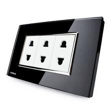 US / AU Version LIVOLO Simple 2 Pins Socket Black - Wall Powerpoints With Plug