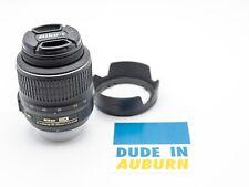 Nikon 18- 55mm AF-S Nikkor DX VR Lens - Used - Includes Lens Hood