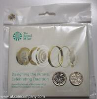 2017 - 2016 Farewell and Nations of the Crown BU £1 One Pound 2 Coin Set Privy